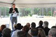 PeroxyChem CEO Bruce Lerner addresses those in attendance at the company's groundbreaking ceremony in Saratoga Springs, NY