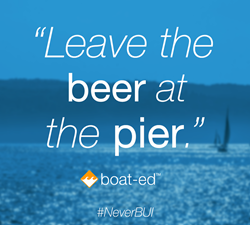 leave the beer at the pier