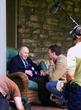 David DeJonge with Frank Buckles filming in 2007