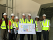 LACI VP Partnerships Mike Swords with LA City Councilmember Tom LaBonge (center), the Councilmember's staff, and LADWP Project Manager Marlon Calderon (far left) at the La Kretz Innovation Campus cons