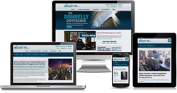 Donnelly Mechanical's fully responsive, mobile-friendly new website at www.DonnellyMech.com.