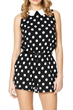 sweet polka-dot rompers
