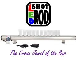 shot glass holder, shot glass, display, rack, board, L.E.D product, bar product, bar equipment, kickstarter, crowdfunding, new, gadget, nightclub, liquor, shooters, merchandising, alcohol, promotion, beverage, bar