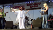 Melissa Manchester performs at the 2014 KSBR Birthday Bash with Terry Wolman (left) and Mindi Abair