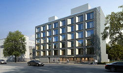 Rendering of.the Marx multifamily project in Astoria Gardens. Photo courtesy of: Fogarty Finger Architects
