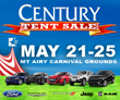 Century of Mt. Airy Auto Group Having Huge Memorial Day Tent Sale at...