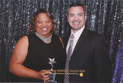 Sydni Craig-Hart and Nino Campos at WRMSDC Awards Gala