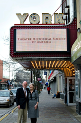 Willis & Shirley Johnson at the York Theatre in Elmhurst, IL., home of THS