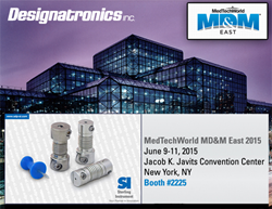 Designatronics attends MD&D East 2015 at the Jacob Javits Convention Center