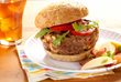 Cheeseburger on an Angelic Bakehouse sprouted grain hamburger bun