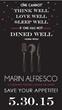 The Osher Marin JCC Presents Marin Alfresco, a Culinary Festival...