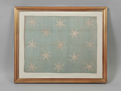Photo Credit: Washington Commander-in-Chief Flag ca. 1777-83 from the collection of the Museum of the American Revolution. Conserved with funds provided by the Pennsylvania Society of Sons of the Revolution and its Color Guard