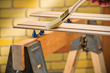 Narrow, rounded tips minimize contact with the workpiece, so they won't mar the finish or damage the wood.
