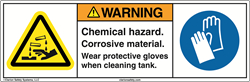 Clarion Chemical Hazard Safety Label