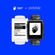 MeetingPulse screen and logo on pebble watch.