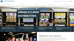 The new mobile-friendly website featuring America's beer distributors
