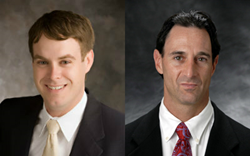 Attorneys Chad Hastings and Glenn Siegel