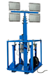 30' Telescoping Light Mast Equipped with a Manual Crank Winch for Operation