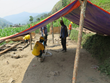 Scientology Volunteer Ministers erected tents in a village in the Dhading district, 86 kilometers north of Kathmandu.