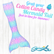 Cotton Candy Mermaid Tail