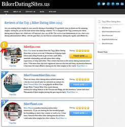 BikerDatingSites.us Announces Publication of New Review Page Offering an Inside Look at the Top 5 Biker Dating Sites Online