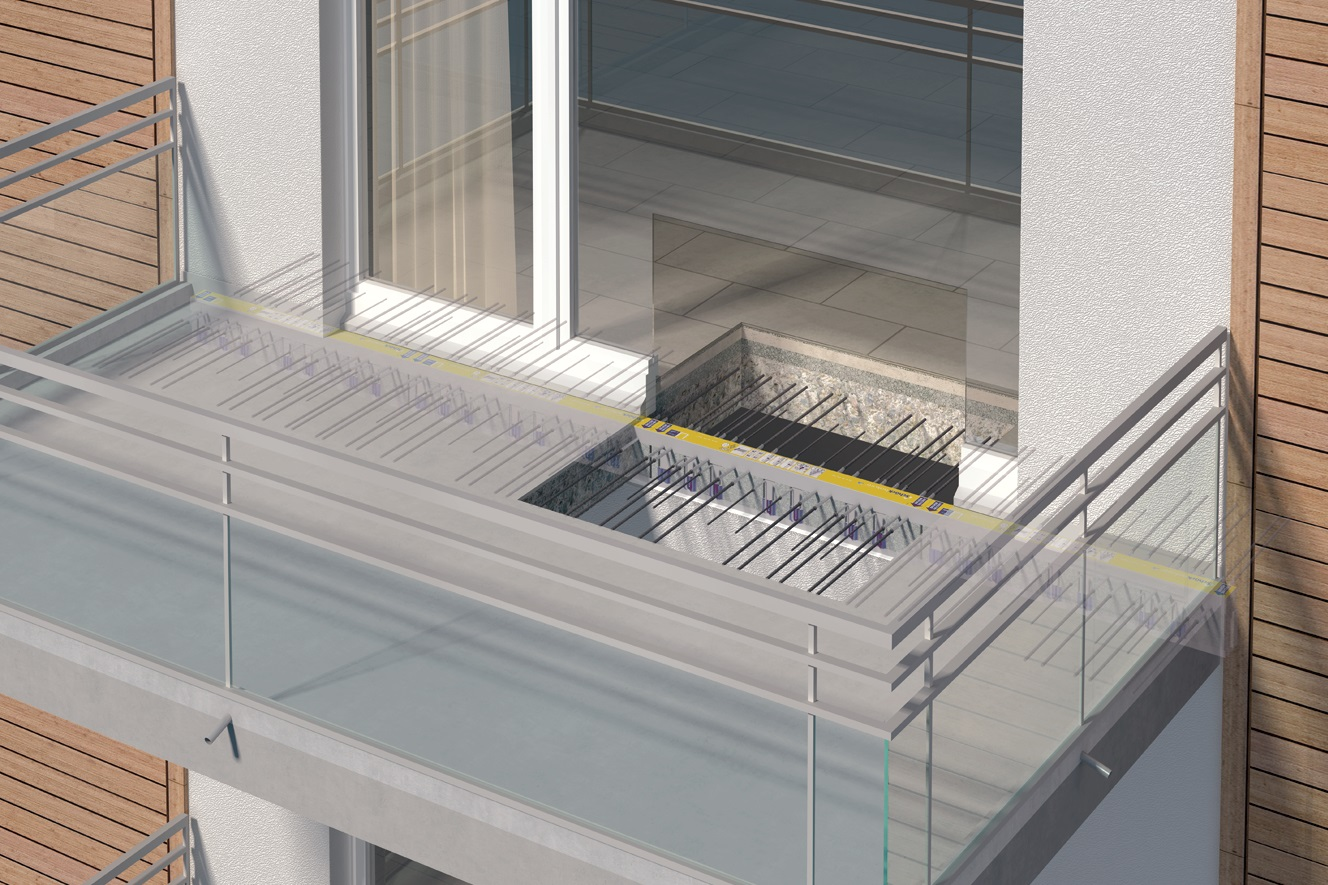First chicago project to use innovative structural thermal for Uses of balcony