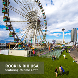 synthetic turf at Rock in Rio USA, artificial turf at events, artificial grass