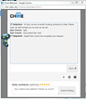 Chime help desk chat support using Skype for Business web client