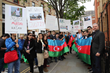 London-based Azerbaijanis express their anger over hostages in...