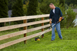WORX 56V Trimmer/Edger easily trims in hard-to-reach areas.