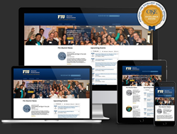 Mobile responsive website fro FIU Alumni Department