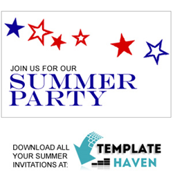 Download all your summer invitations at TemplateHaven.com