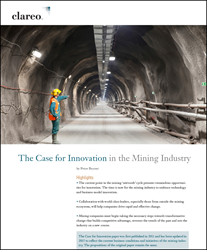 "cover image of the ""Case for Innovation in Mining"" white paper is available for free download"