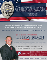 Shiner Law Group Supports the Delray Beach Police Department