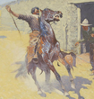 Frederic Remington, grisailles, Buffalo Soldiers, Oregon Trail migration, Indian Wars, Sid W. Richardson, Fort Worth, Sundance Square, oil paintings, watercolos, Western art, untamed 19th century American West