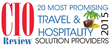 CIOReview - 20 Most Promising Travel & Hospitality Solution providers 2015