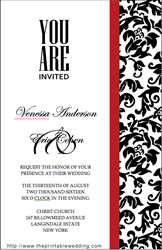 wedding invitation from the printable wedding