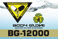 Water, Inc.'s BG-12000 Body Glove Water Filter system is one of the first to pass the new NSF/ANSI Standard 401 – Pharmaceuticals: Emerging Compounds/Incidental Contaminants.