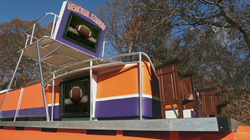 Weatherproof TV Enclosure, PEC's The TV Shield, was the Highlight of a Clemson Tiger Party Boat Makeover on Animal Planet's Flipping Ships