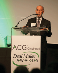 Michelman Accepting ACG Deal Maker of the Year Award Cincinnati 2015