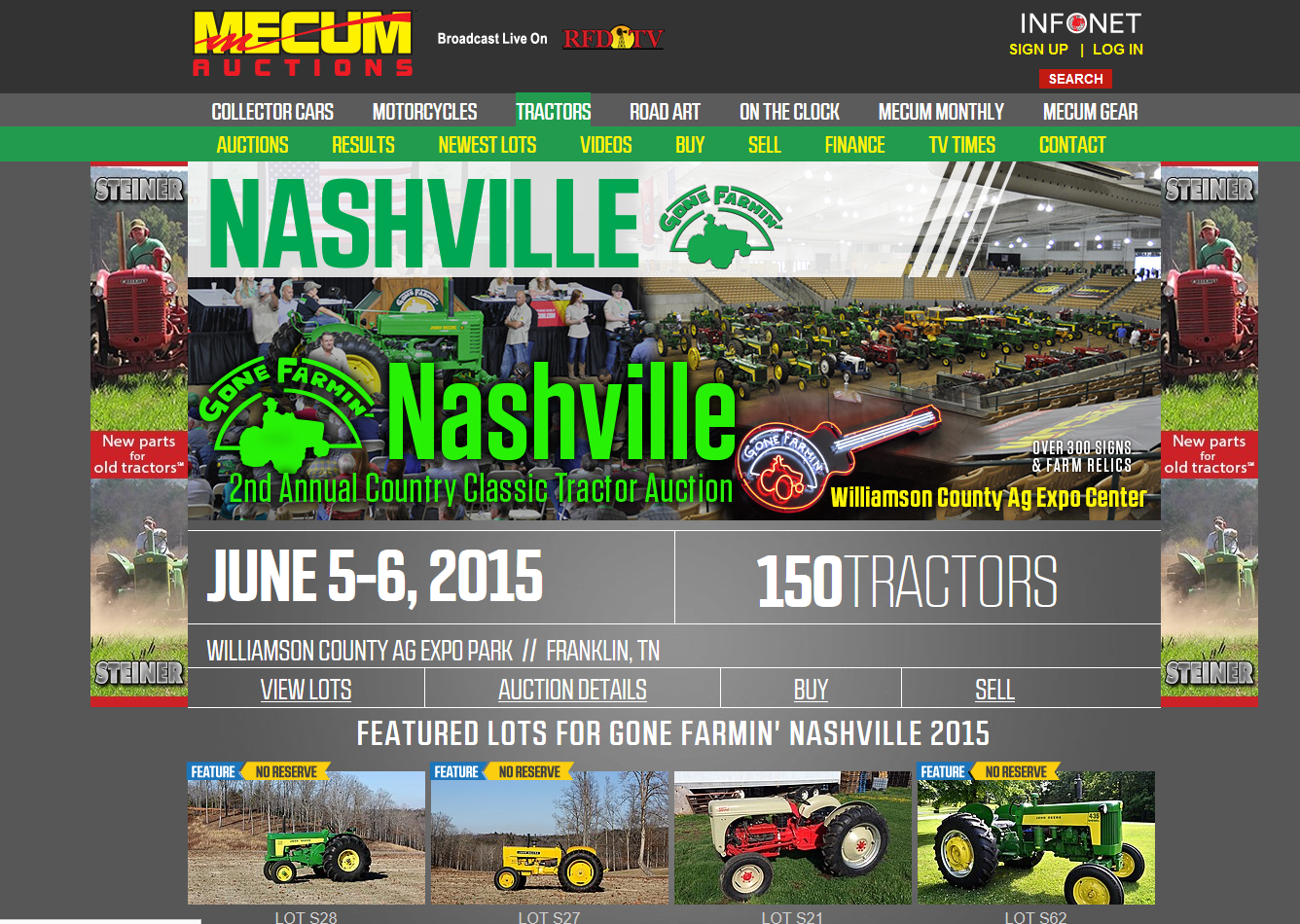 Steiner Tractor Parts & Mecum Auctions Announce a Long-Term