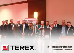 Scott-Macon Equipment recognized by Terex for Outstanding Sales of Rough Terrain Cranes