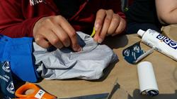 repair outdoor gear, take a kid outside, repair day, mcnett, gear aid