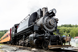 Steam Engine at Mt. Rainier Scenic Railroad and Museum in Elbe, Washington