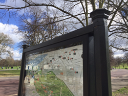 Classic series 60 poster cases installed at Greenwich Park