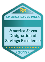 Badge of Excellence from America Saves 2015