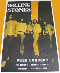 1969 Rolling Stones Altamont concert poster