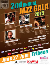 On June 27th, 2015 at Tribeca Performing Arts Center in New York the international nature of jazz is being celebrated to its fullest, with the Made in New York Jazz Competition hosting international jazz, folk jazz and new flavor jazz artists all sharing