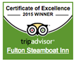 The Fulton Steamboat Inn Awarded 2015 TRIPADVISOR Certificate Of...