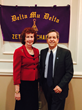 Delta Mu Delta- Mark S. Germain Honorary Inductee and Dean Ellen Durnin of Southern Connecticut State University